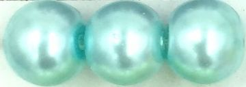 45 Light Turquoise - glass pearls - beads - all sizes